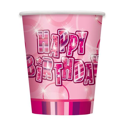 Pink Glitz Paper Cup 270ml