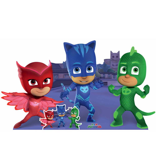 PJ Masks Group Pose Lifesize Cardboard Cutout 93cm Product Gallery Image