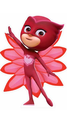 PJ Masks Owlette Star Mini Cardboard Cutout 82cm Product Gallery Image