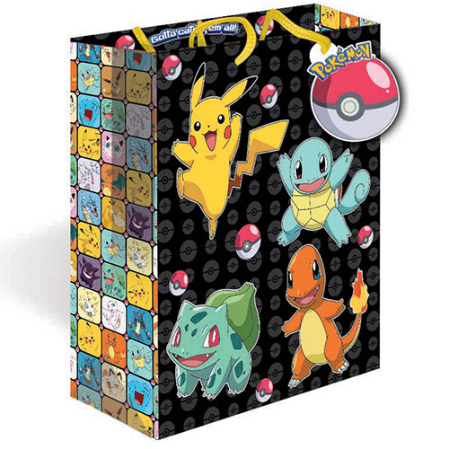 Pokemon Large Gift Bag 31cm