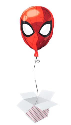 Spider-Man Head Junior Shape Foil Helium Balloon - Inflated Balloon in a Box