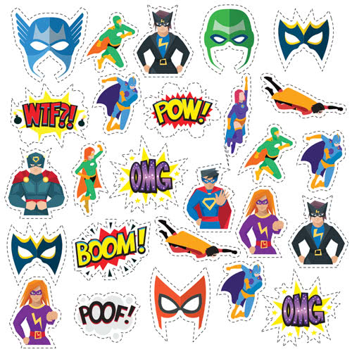 Superhero Masks Cutting Sheet PVC Party Sign Decoration 133cm x 133cm