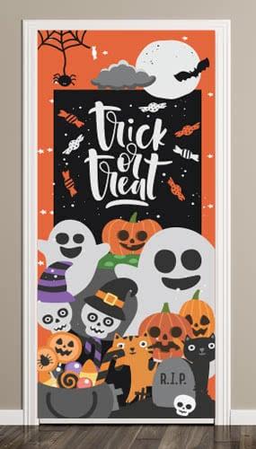 Trick Or Treat Halloween Door Cover PVC Party Sign Decoration 66cm x 152cm