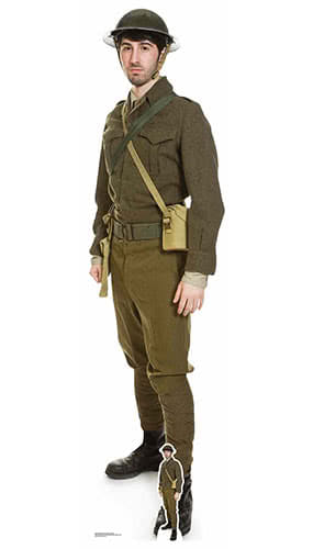 WW1 British Soldier Lifesize Cardboard Cutout 182cm Product Gallery Image