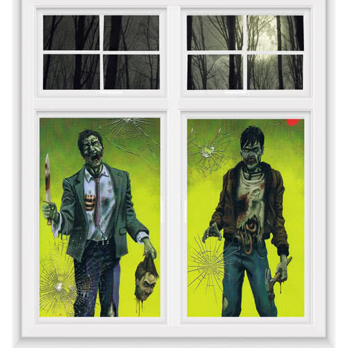 Zombies Halloween Window Decorations 165cm - Pack of 2