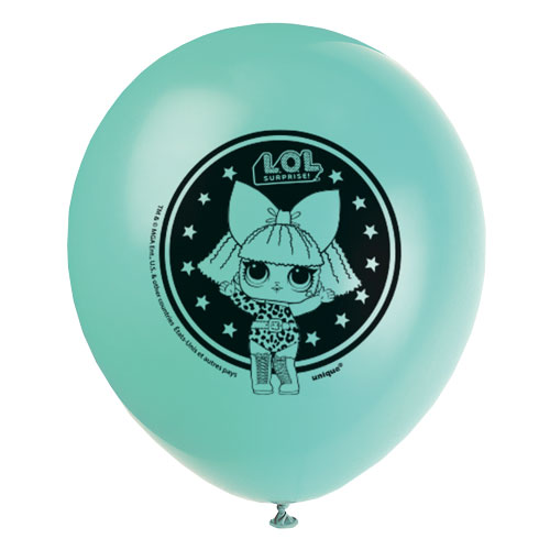 LOL Surprise Assorted Party Biodegradable Latex Helium Balloons 30cm / 12Inch - Pack of 8 Product Gallery Image