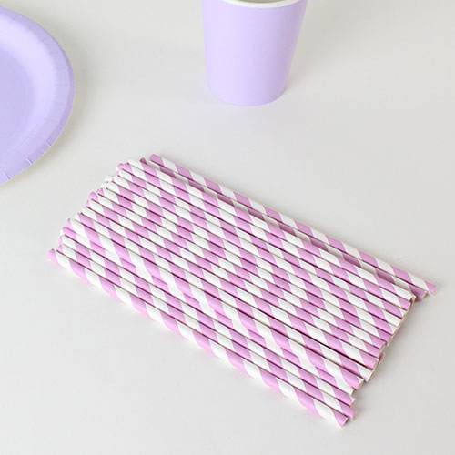 biodegradable-lilac-and-white-stripes-party-paper-straws-pack-of-40-product-image
