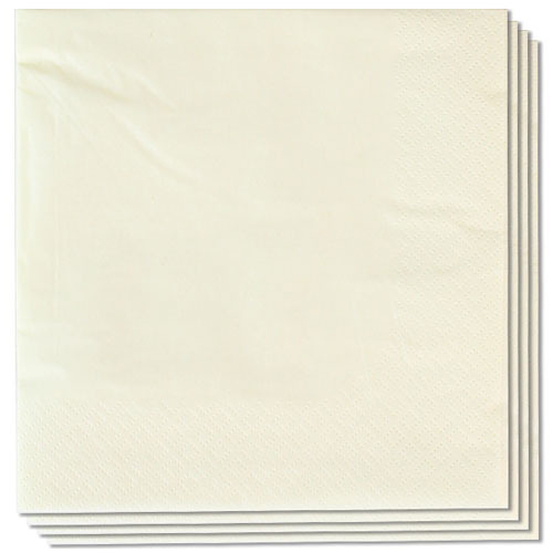 Butter Cream Napkins 33cm 2Ply - Pack of 100