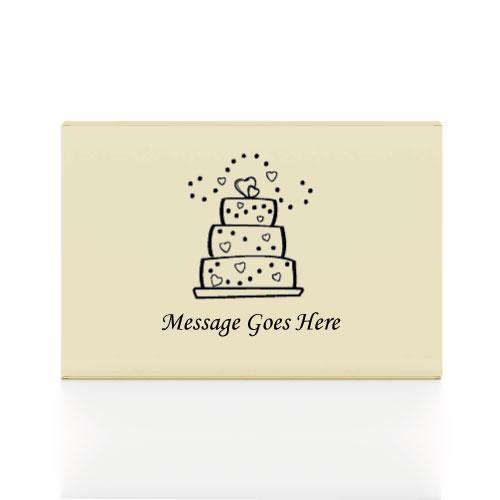 200 Ivory Printed Cake Boxes 8 x 6 x 2.5 cms