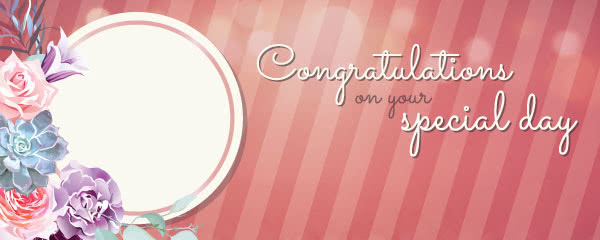 Congratulations On Your Special Day Design Medium Personalised Banner - 6ft x 2.25ft