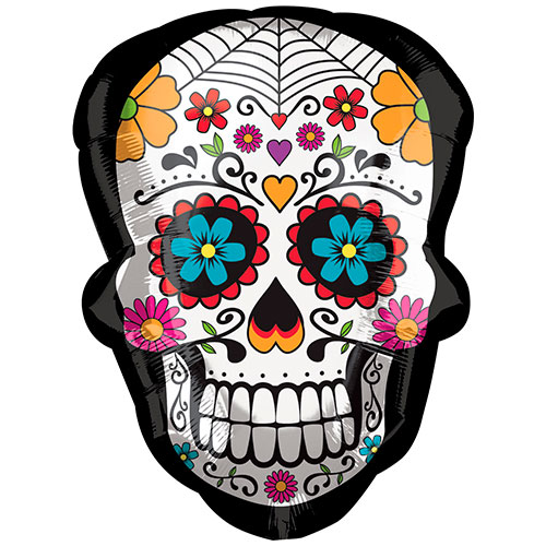 day-of-the-dead-sugar-skull-supershape-helium-foil-balloon-60cm-24inch-product-image