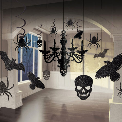 Halloween Glitter Chandelier Decorating Kit
