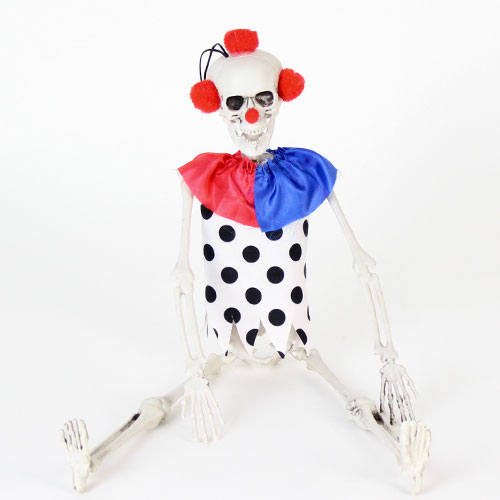 Halloween Prop Clown Skeleton Hanging Decoration 40cm