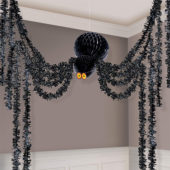 Giant Halloween Honeycomb Hanging Spider Decorating Kit 3.6m