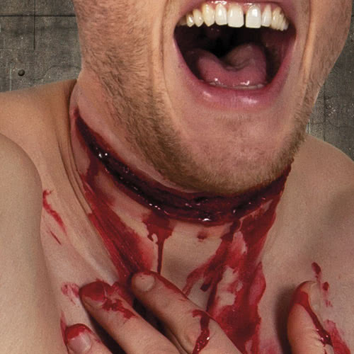 Latex Wound Slit Throat Halloween Fancy Dress Product Gallery Image