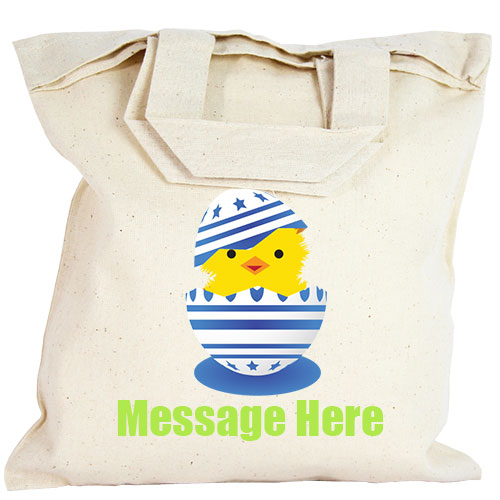 Personalised Party Bag - Blue Easter Egg