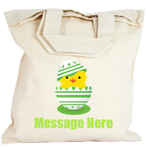 Personalised Party Bag - Green Easter Egg