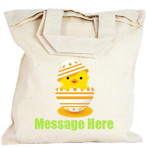 Personalised Party Bag - Orange Easter Egg