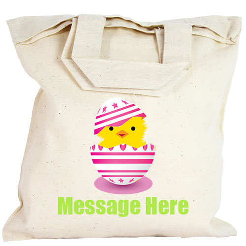 Personalised Party Bag - Pink Easter Egg