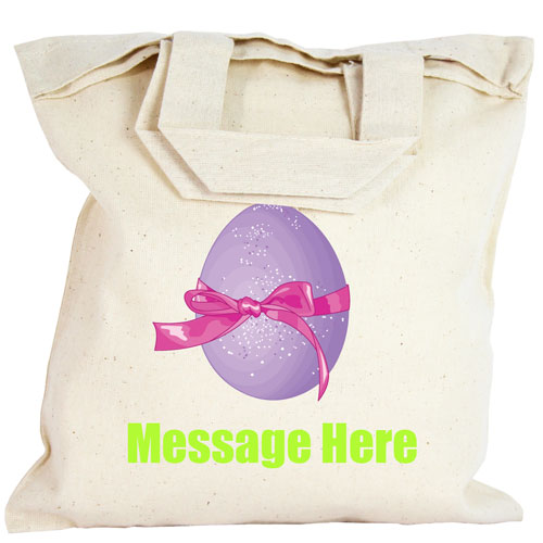 Personalised Party Bag - Purple Easter Egg