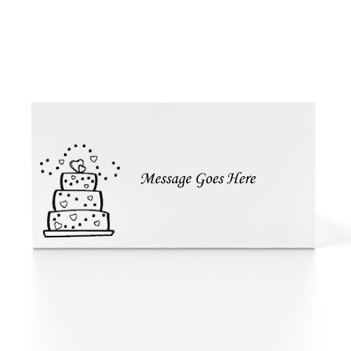 50 White Printed placecards 9.5cms x 4cms