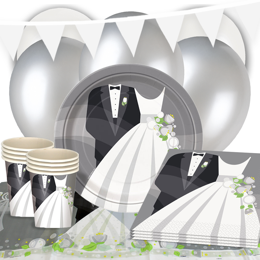 Suit And Wedding Dress 16 Person Deluxe Party Pack