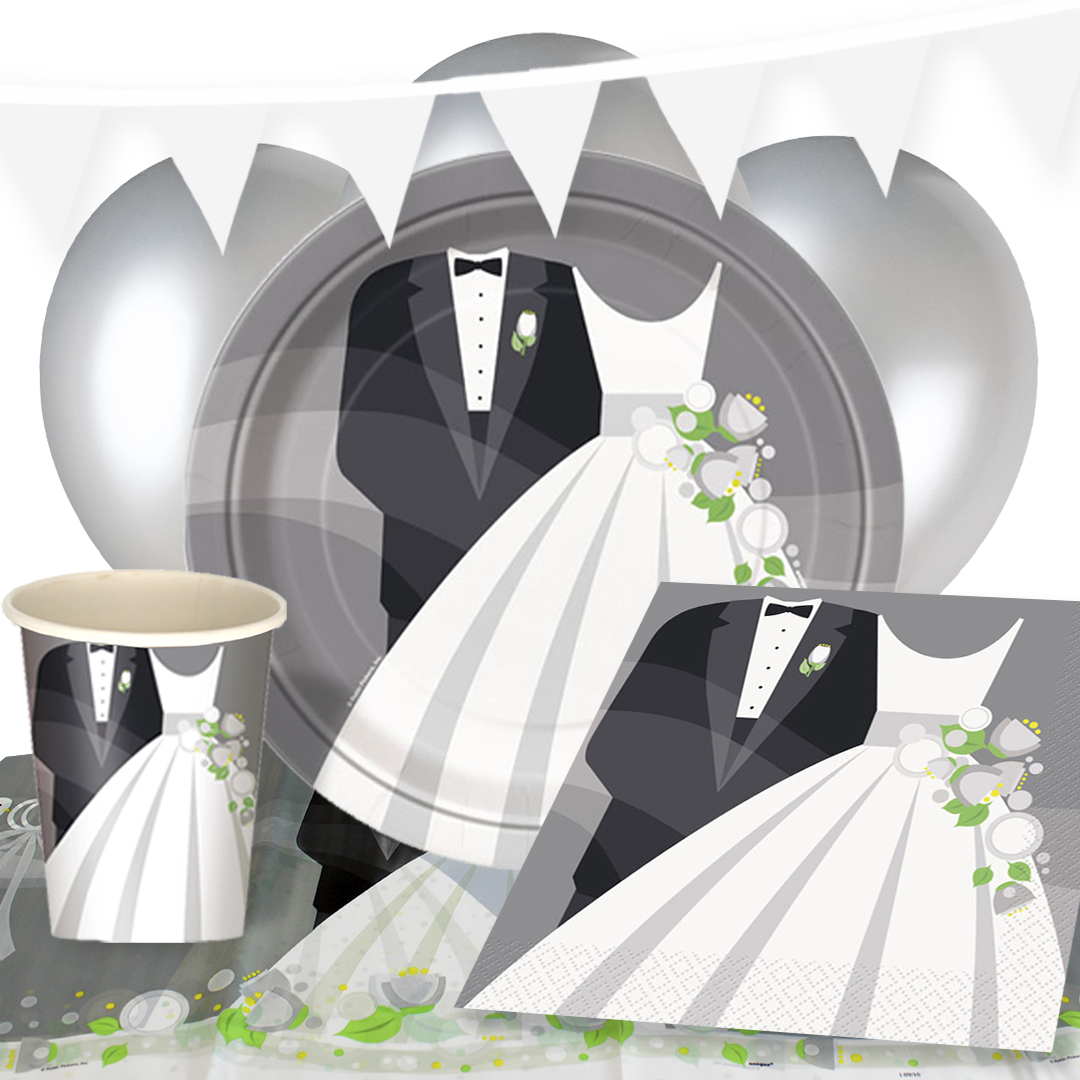 Suit And Wedding Dress 8 Person Deluxe Party Pack