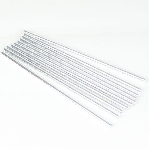 Silver Foil Paper Straws - Pack of 10 Product Image