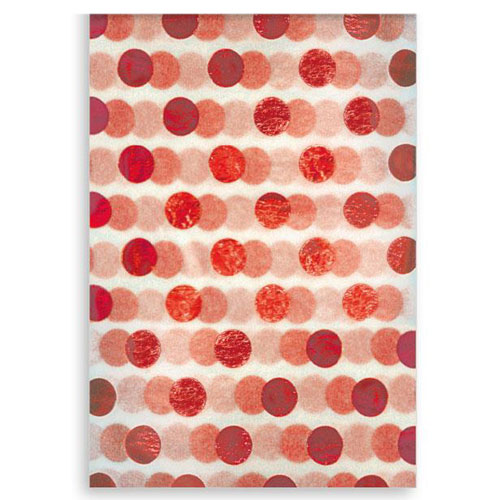 Red Foil Dots Christmas Tissue Paper - Pack of 3 Product Image