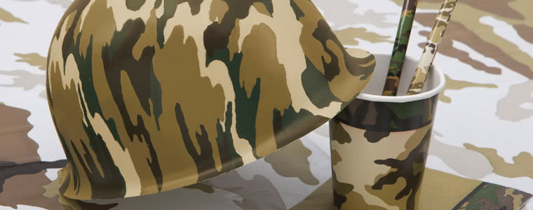 Army Camouflage Theme Party Supplies Top Image