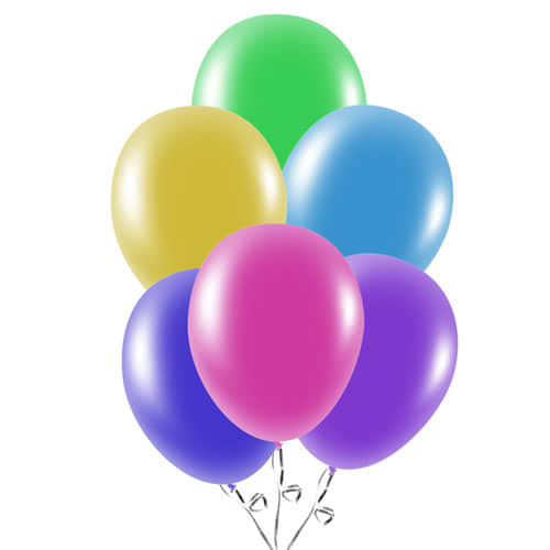 Assorted Latex Balloons 23cm / 9Inch - Pack of 30