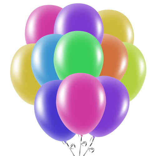 Assorted Latex Balloons 23cm / 9Inch - Pack of 50
