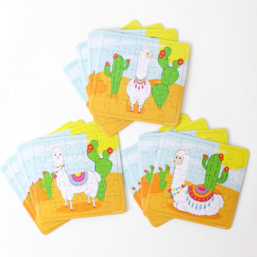 Assorted Llama Jigsaw Puzzle - Pack of 12 Product Image