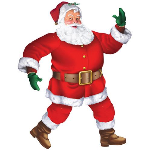 Christmas Classic Santa Jointed Cardboard Cutout 110cm