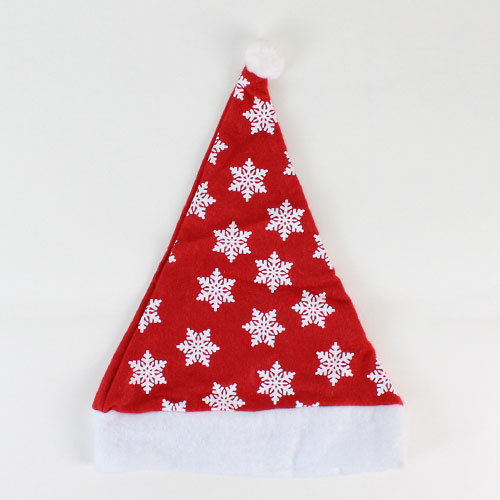 Christmas Hat With Snowflakes Print 40cm