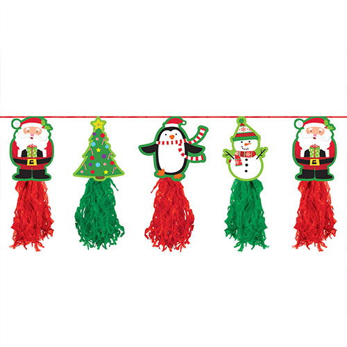 Christmas Holiday Tissue Garland Hanging Decoration 243cm