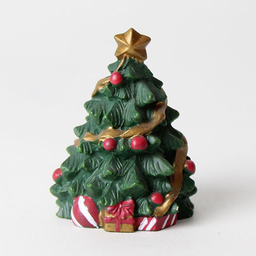 Christmas Tree Resin Cake Topper Decoration 5cm