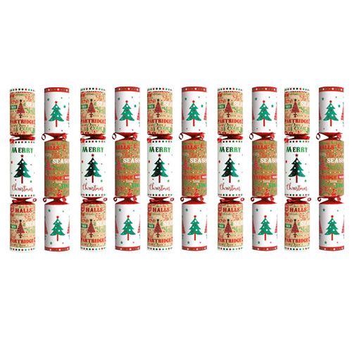 Contemporary Christmas Crackers - Pack of 10