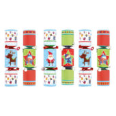 Assorted Novelty Mini Christmas Crackers – Pack of 6