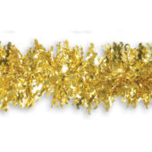 Gold Zig Zag Christmas Tinsel Tree Decoration 2m
