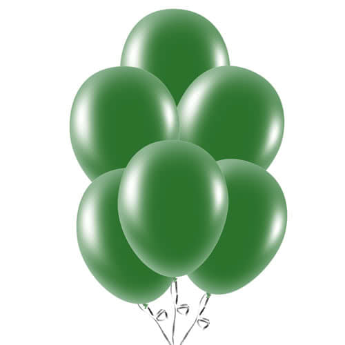 Forest Green Latex Balloons 23cm / 9Inch - Pack of 30