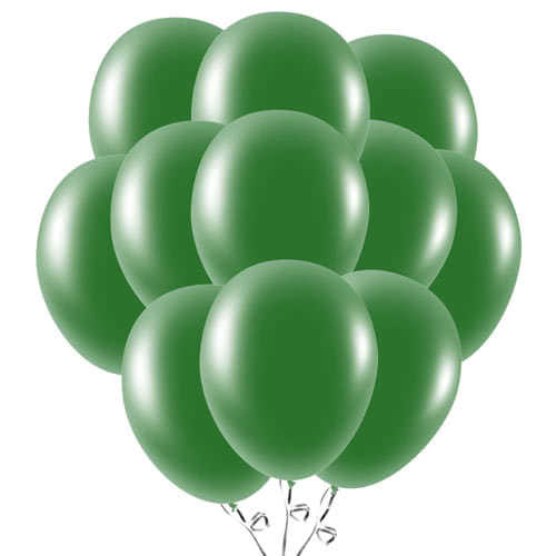 Forest Green Latex Balloons 23cm / 9Inch - Pack of 50