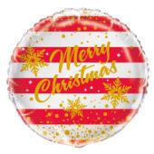 Gold Sparkle Christmas Round Foil Helium Balloon 46cm / 18Inch