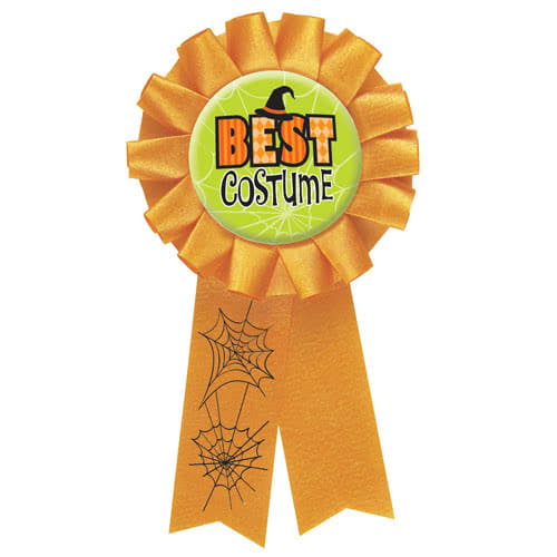 Halloween Best Costume Award Ribbon
