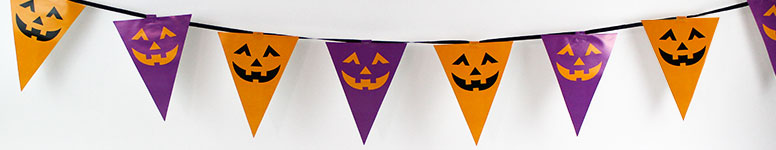 Halloween Flag Paper Bunting 3m