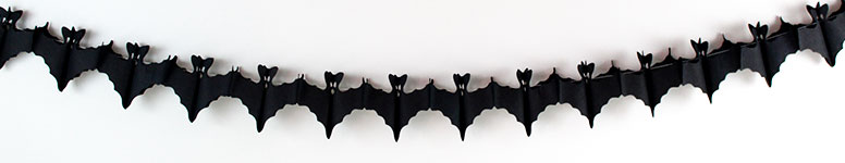 Halloween Bats Paper Garland Decoration 2.6m