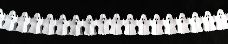Halloween Ghosts Paper Garland Decoration 2.6m