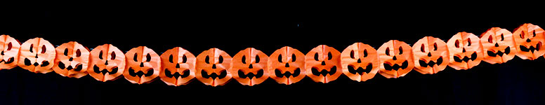 Halloween Pumpkins Paper Garland Decoration 2.6m