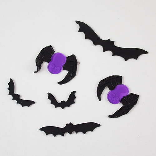 Bats And Spiders Halloween Gel Stickers Window Decorations