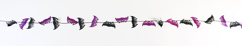 Halloween Holographic Bats Garland Hanging Decoration 2.4m